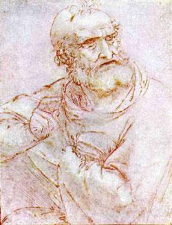 Апостол (возможно святой Петр). Этюд. 1495-1497